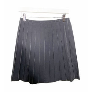 Gunex Cotton A Line Pleated Striped Skirt Italy 4